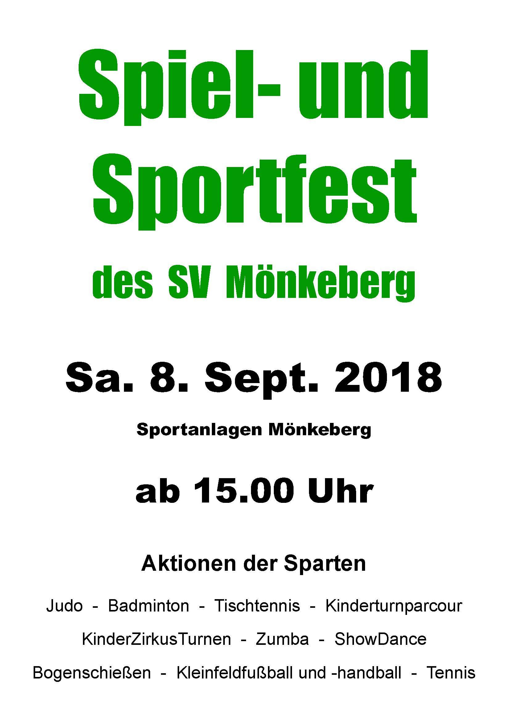 Spiel- und Sportfest des SV  Mönkeberg